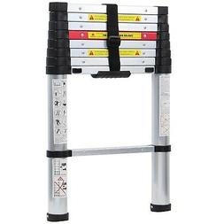 WolfWise 8.5FT Newly Aluminum Telescopic Ladder, 330lbs Max