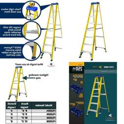 8 Ft. Fiberglass Step Ladder With 250 Lbs. Load Capacity Typ