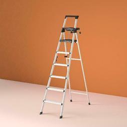 Cosco 8 Ft. Signature Series Aluminum Folding Step Ladder Wi