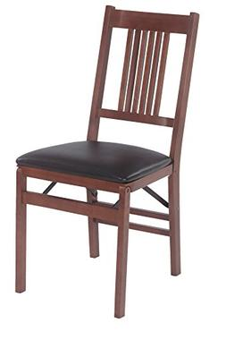 True Mission Folding Chair in Warm Fruitwood Finish - Set of
