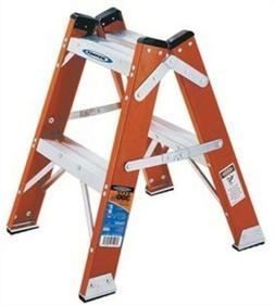 Werner T6202 300-Pound Duty Rating Fiberglass Twin Step Stoo