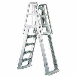 Vinyl Works A Frame Ladder with Barrier for Swimming Pools 4