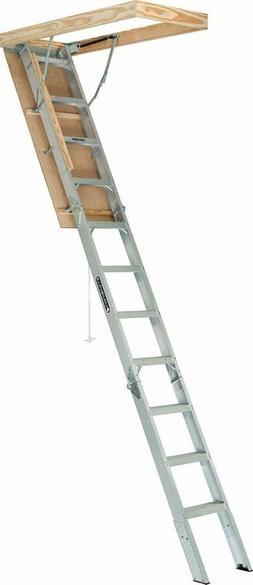 Louisville Ladder AA2210 Elite Aluminum Attic Ladder, 375 Po