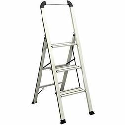 ADS3-001-WH Series Aluminum Designer Step Stool, White Home