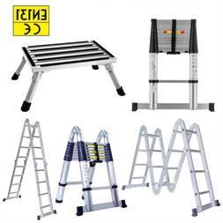 All Purpose Extension Telescopic Aluminum Ladder Portable Fo