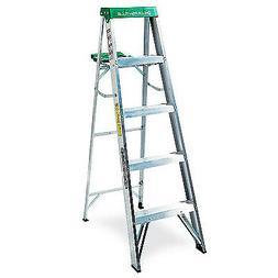 Louisville Ladder 5' Aluminum Step Ladder, 225 lbs Duty Rate