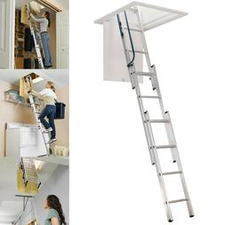 Werner Aluminum Attic Ladder Stairs Steps Telescoping Telesc