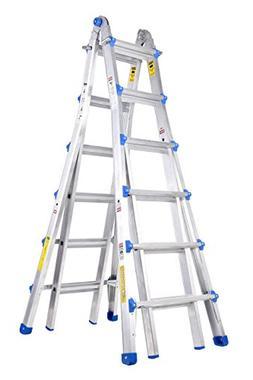 TOPRUNG Model-26 ft. Aluminum Extension Multi-Purpose Ladder