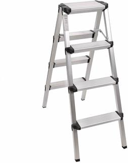 REDCAMP Aluminum Folding Step Ladder 3/4 Steps Sturdy Heavy