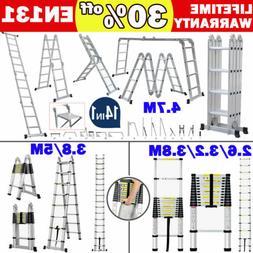 aluminum ladder folding step ladder scaffold extendable