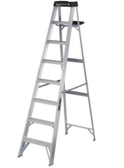 Louisville 8 Foot Aluminum Step Ladder 250 Pound Capacity Ty