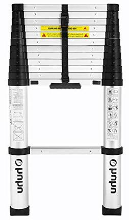 Ohuhu 12.5 FT Aluminum Telescopic Extension Ladder, ONE-BUTT