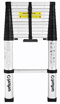 Ohuhu 12.5 FT Aluminum Telescopic Extension Ladder, ONE-BUTT