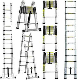 Aluminum Telescopic Extension Ladder Extendable Folding Mult