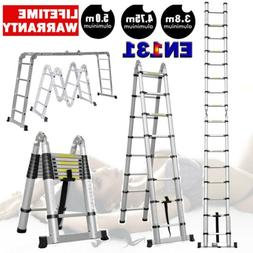 Folding Ladder Aluminum Multi Purpose Extension Ladders Buil