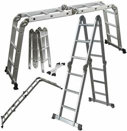 OxGord Aluminum Telescoping Ladder v2, 12 foot