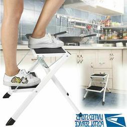 Anti- Slip 2 Tread Ladder Folding Safety Step Stool Heavy Du
