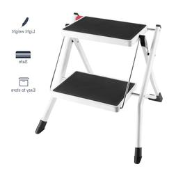 Anti-slip Folding Mini 2-Step Stool Wide Platform Step Ladde