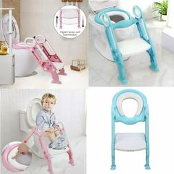 Baby Kids Potty Toddler Toilet Chair Training Seat with Step
