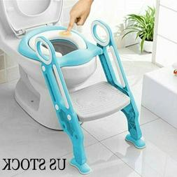 Baby-Kids-Potty-Training-Seat-with-Step-Stool-Ladder-Child-T