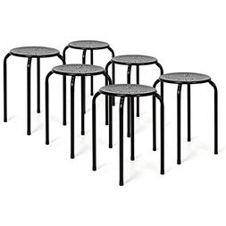 Best Choice Products Set of 6 Backless Round Top Metal Stool
