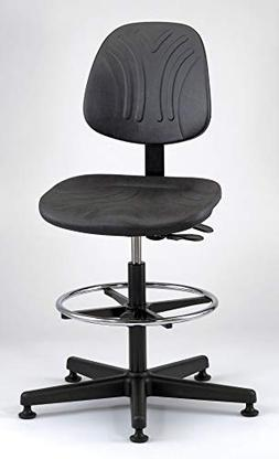 Bevco Deluxe Task Stool With Plastic Stool with 300 lb. Weig