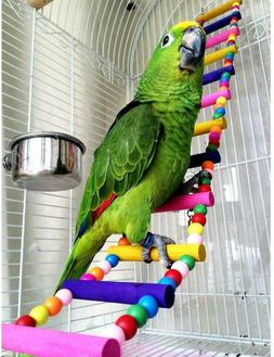 Bird Ladder Parrot Toys Cage Accessories for Cockatiel Conur