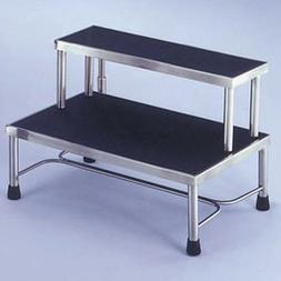 Blickman 7763MR Donnelly Two-Step Foot Stool, Stainless Stee
