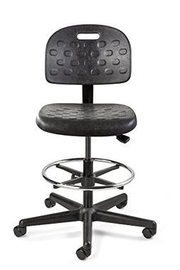 Bevco Breva, Tall Height Polyurethane Chair, Black Nylon Bas