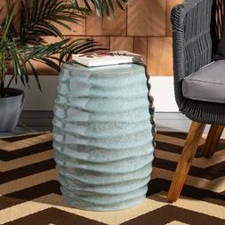 Ceramic Garden Stool Decorative Indoor Outdoor Bold Contempo