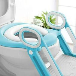 Child Toddler Toilet Chair Kids Potty Training Seat with Ste