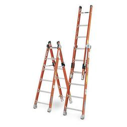 Werner 8 ft. Fiberglass Combination Ladder, 7808
