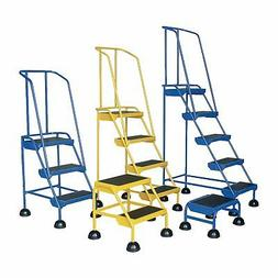 commercial rolling ladder spring loaded 2 steps