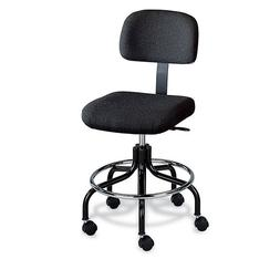 """Bevco Continuous-Use Stool - 25-30"""" Seat Height - Black Fabr"""