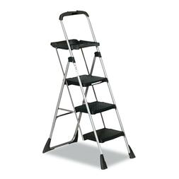 Cosco Max Work Steel Platform Ladder, 22w x 31d x 55h, 3-Ste