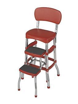 cosco red retro counter chair