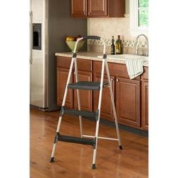 Cosco Signature 3-Step Aluminum Step Stool with Plastic Step