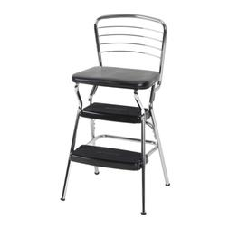 COSCO Stylaire Retro Chair/ Step Stool with flip-up seat