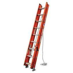 WERNER D6224-3 Extension Ladder, Fiberglass, 24 ft. , Type I