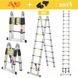 EN131 16.5FT Aluminum Multi-Purpose Extention Ladder Folding