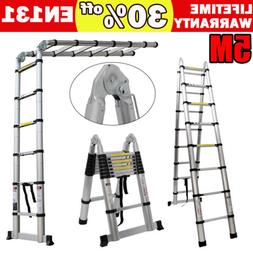 EN131 16.5ft Telescoping Ladder Aluminum Telescopic Extensio