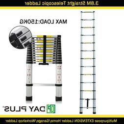 EN131 Aluminum Telescoping Telescopic Extension Ladder 12.5F