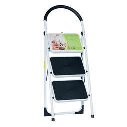 Good Life EN131 Folding 3 Step Ladder Home Depot Steel Step