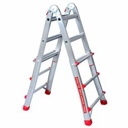 GOOD LIFE EN131 3X4 Step 9.5 FT Telescoping Multi-Ladder Alu
