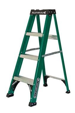 Louisville Ladder 4' Fiberglass Step Ladder, 225 lbs Duty Ra