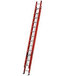 LOUISVILLE FE3228 Extension Ladder, Fiberglass, 28 ft. , Typ