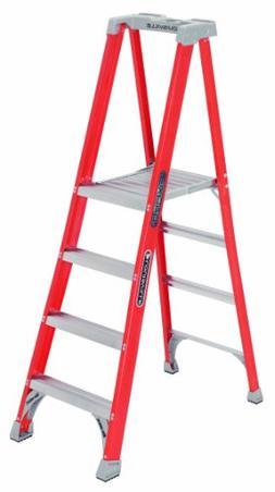 Louisville Ladder 12-Foot Fiberglass Pro Platform Ladder wit