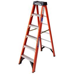 Werner 6 ft Fiberglass Step stable Ladder 300 lbs Load Capac