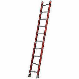 LOUISVILLE Fiberglass Straight Ladder,10 ft.,300 lb.,Fg, FE3