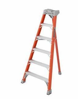 Louisville Ladder 6-Foot Fiberglass Tripod Ladder, 300-Pound